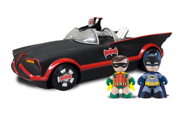 Classic TV Batmobile Set Includes The Dynamic Duo Mez-itz (Photo Courtesy of Mezco Toyz)