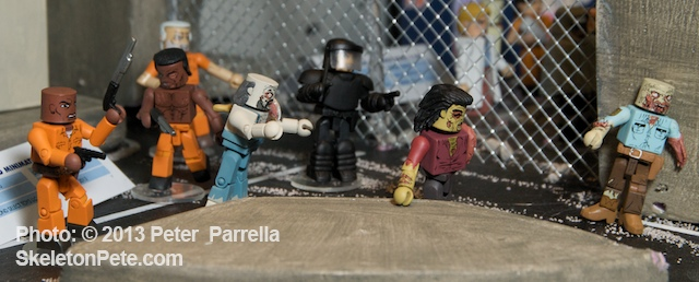 DST's Walking Dead Minimates Series 3 as displayed at NY Toy Fair 2013