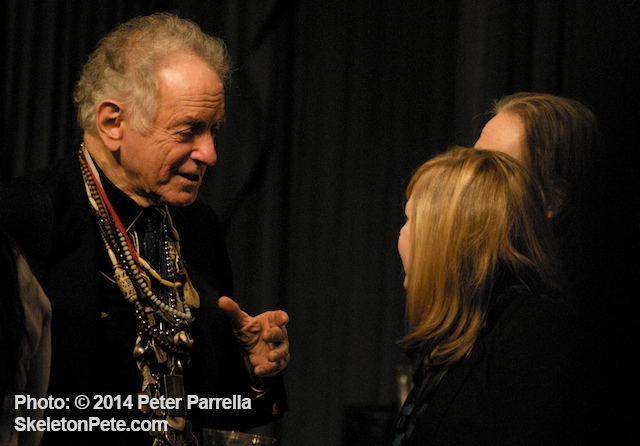 David Amram Chats with Series Curater Jenny Wasserman During Opening Night Intermission.