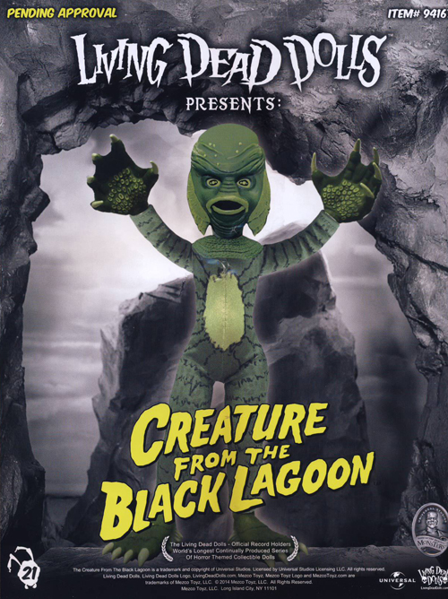 Mezco's LDD Creature is still in the working stages, but promises to be a real collector's treat.