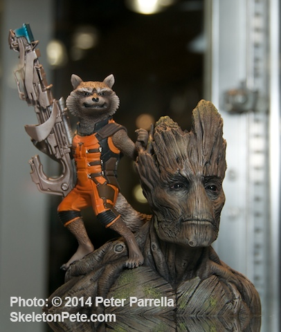 Kotobukiya's Marvelous Depiction of Galaxy Guardians Rocket Raccoon and Groot @ NY Toy Fair 2014