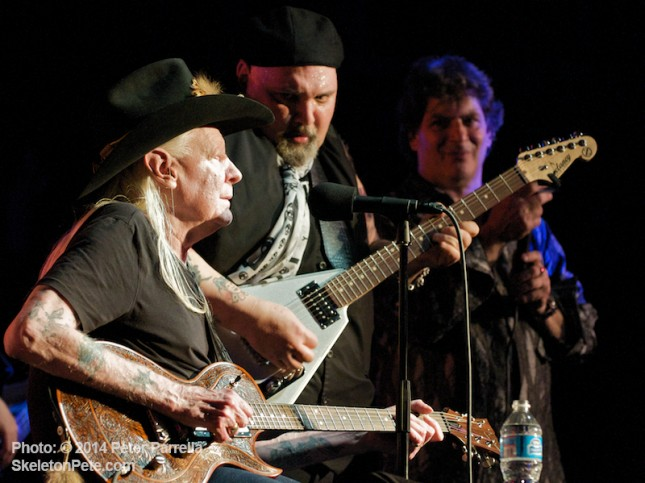 Johnny Winter and Popa Chubby Get Their Mojo Working @ BB King Blues Club