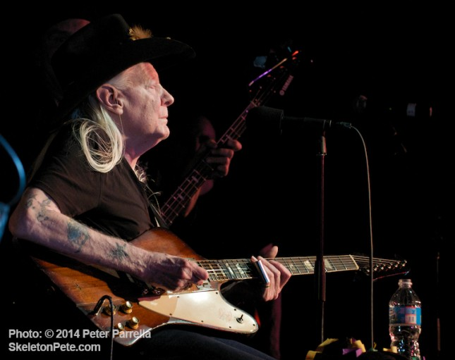 "Blues Legend Johnny Winter encores with ""Highway 61 Revisited"" @ his 70th Birthday Party Jam."