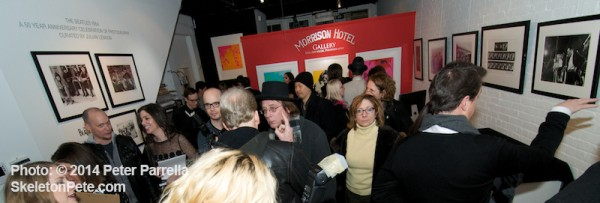 The Morrison Hotel Gallery in SOHO NYC launched their Beatles 50th Anniversary Photo Celebration with a bustling opening night event.