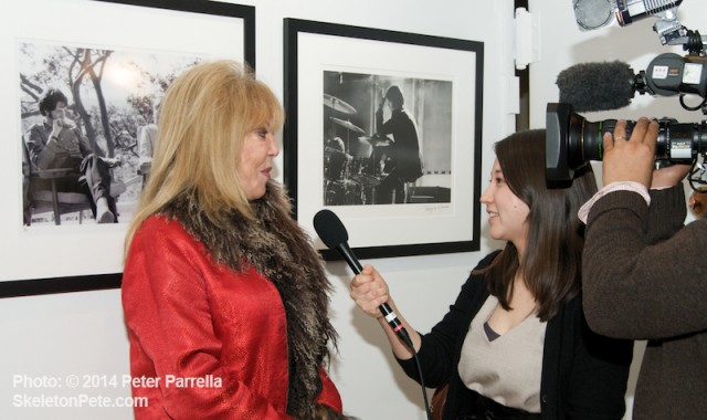 Pattie Boyd discusses her photo work and Beatle lore with Erina Aoyama of Japan's NHK Broadcasting.