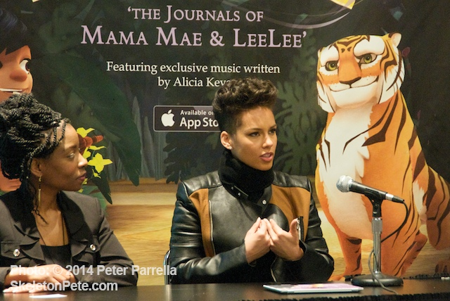 Alicia Keys explains the concepts behind her App's interactive play.