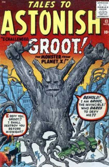 Guardian Groot in his early Marvel Comics Days.