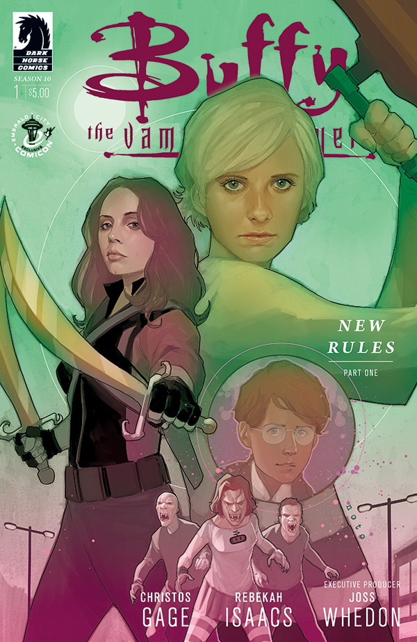 Dark Horse's Exclusive Emerald City  Comic Con Variant Cover by Rebekah Isaacs