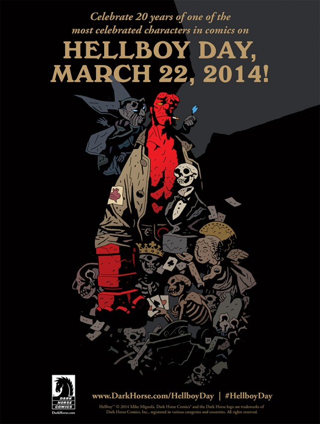 Dark Horse Comics Celebrates 20 Years of Hellboy w/ Book and 3.22.14 Worldwide  Event.