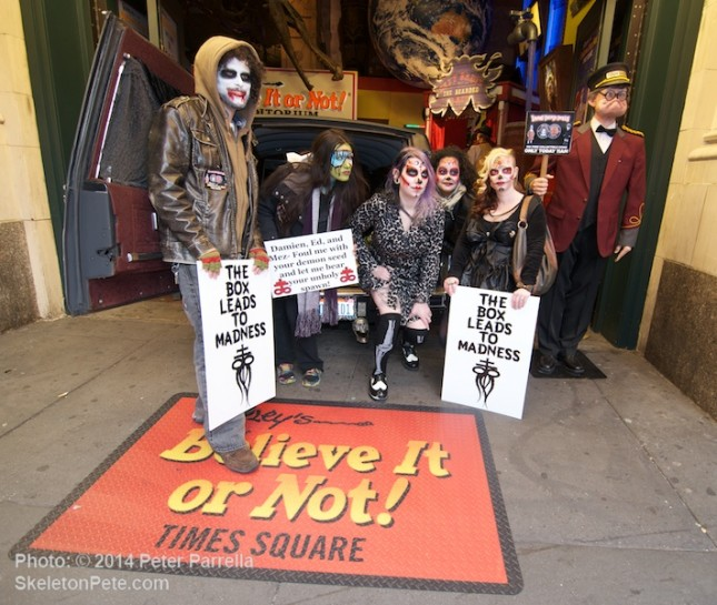 A Brood of Spirited Ghouls Welcomed Attendees to the Mezco/Ripley's Times Square Event.