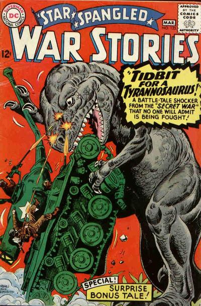 This Cover for Star Spangled War Stories #125 Typifies the Dinosaur Island Series.