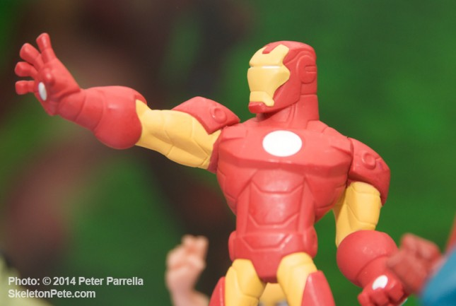 "Disney Infinity 2.0 Iron Man can change on screen costumes via ""power discs."""