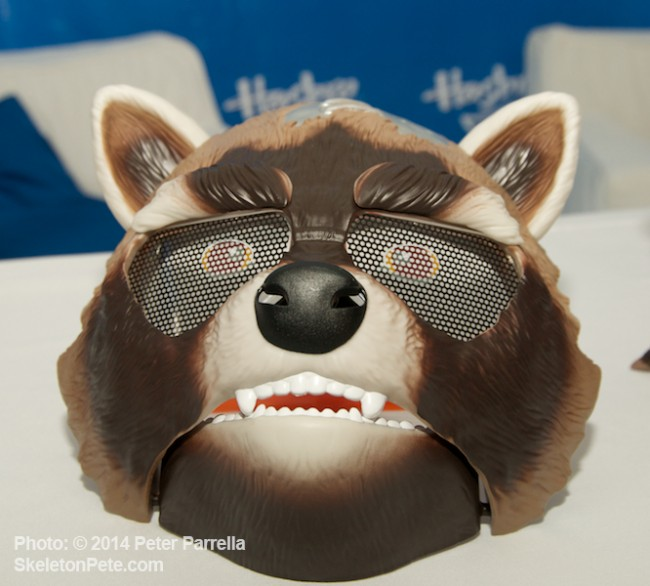 Hasbro's Rocket Raccoon Action Mask Includes  User Activated Motion.