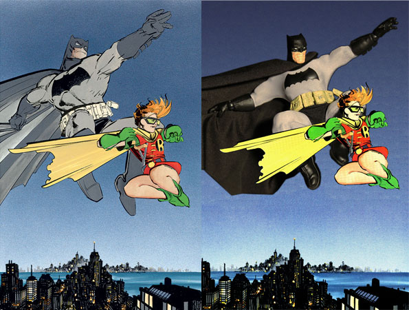 Peter Keehn's Emulation of Frank Miller Art Highlights the Highly Poseable Nature of Mezco's One:12 Collective Figures