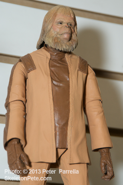 "Dr. Zaius, as played by the late Maurice Evans, is perfectly portrayed as part of NECA's Classic ""Planet of the Apes"" Series 1."