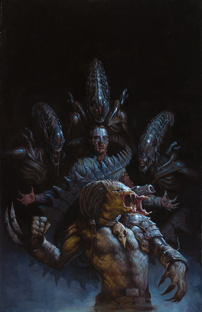 E. M. Gist's cover for Fire and Stone: AVP #1
