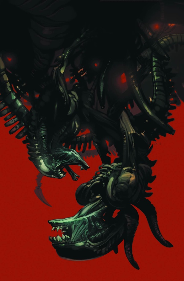 Fire and Stone: Aliens #1 variant cover art by Fiona Staples.