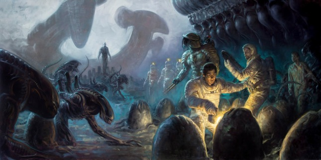 "Dark Horse Comic's ""Fire and Stone"" books will present a massive Alien and Predator universe excursion."