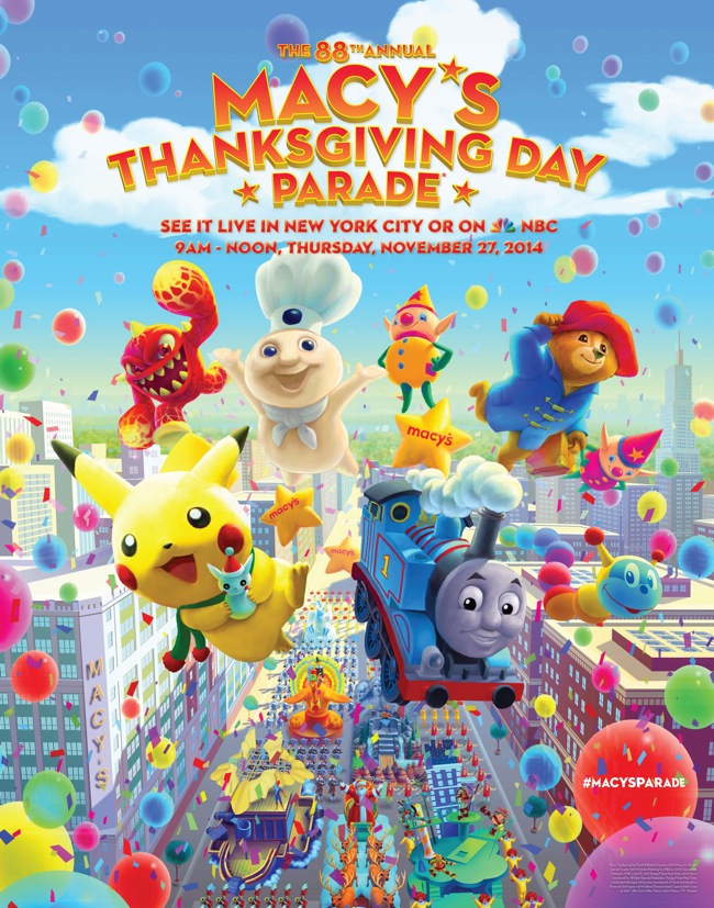 The Biggest Balloons Ever will fly in the Macy's 88th Thanksgiving Day Parade.