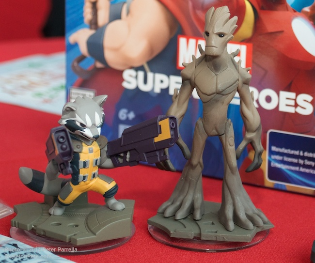 Guardians Rocket and Groot in their beautiful Disney Infinity 2.0  toy incarnations.