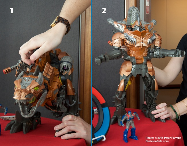 A Single Movement Activates Grimlock's Transformation