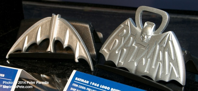 Diamond Select's Batarang and Batman Logo serve double duty.