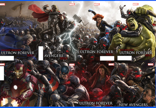 age of ultron. marvel comics, variant covers