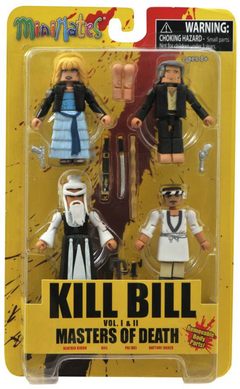 diamond select toys, kill bill, mini mates, quentin tarantino, pulp fiction