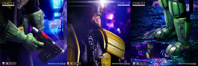 mezco toyz, judge dredd, one:12 collective, action figures