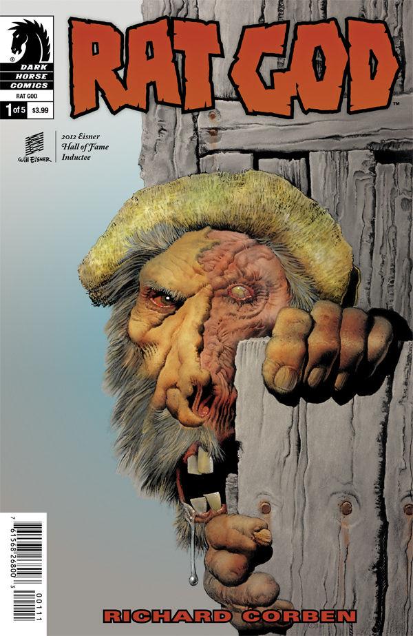 dark horse comics, richard corbel, rat god 1, h p love craft
