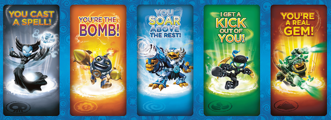 skylanders, activision, pop fizz, love potion, valentines day cards