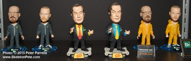 mezco toyz. breaking bad, bobbleheads, amc series, better call saul
