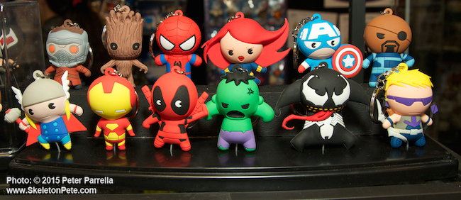 monogram international, toy fair 2015, marvel, dc comics, key rings, bust banks