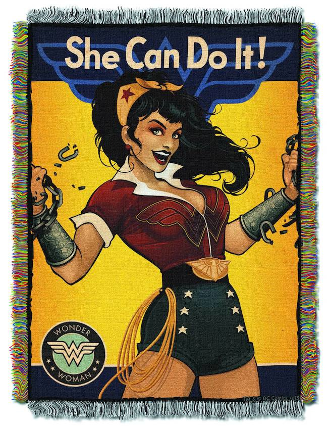 dc collectibles, dc comics, dc bombshells, wonder woman, she can do it,