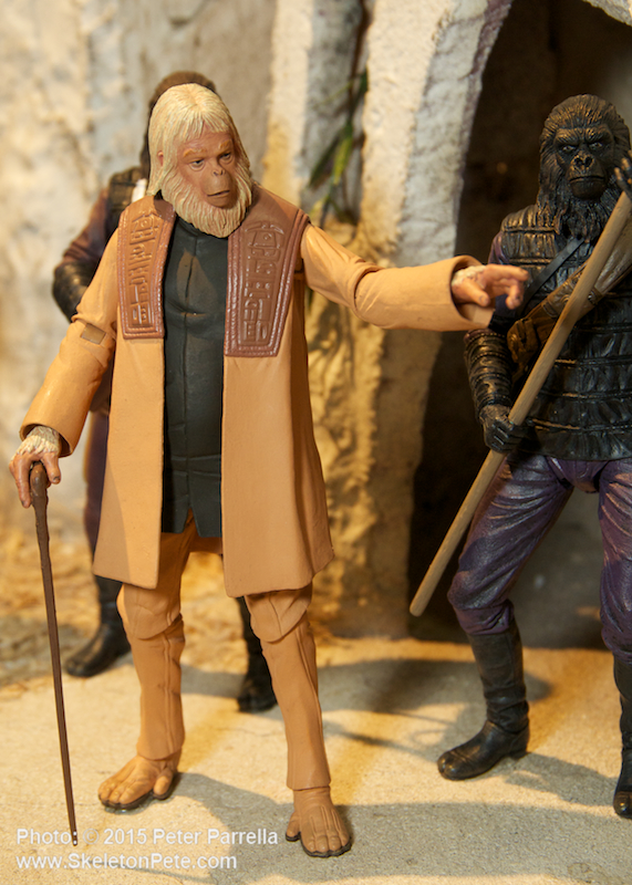 planet of the apes, neca action figures, lawgiver statue, maurice evans, dr. zaius