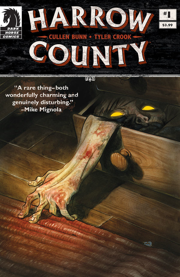 dark horse comics, cullen bunn, tyler cook, harrow county, fantasy horror graphic novel