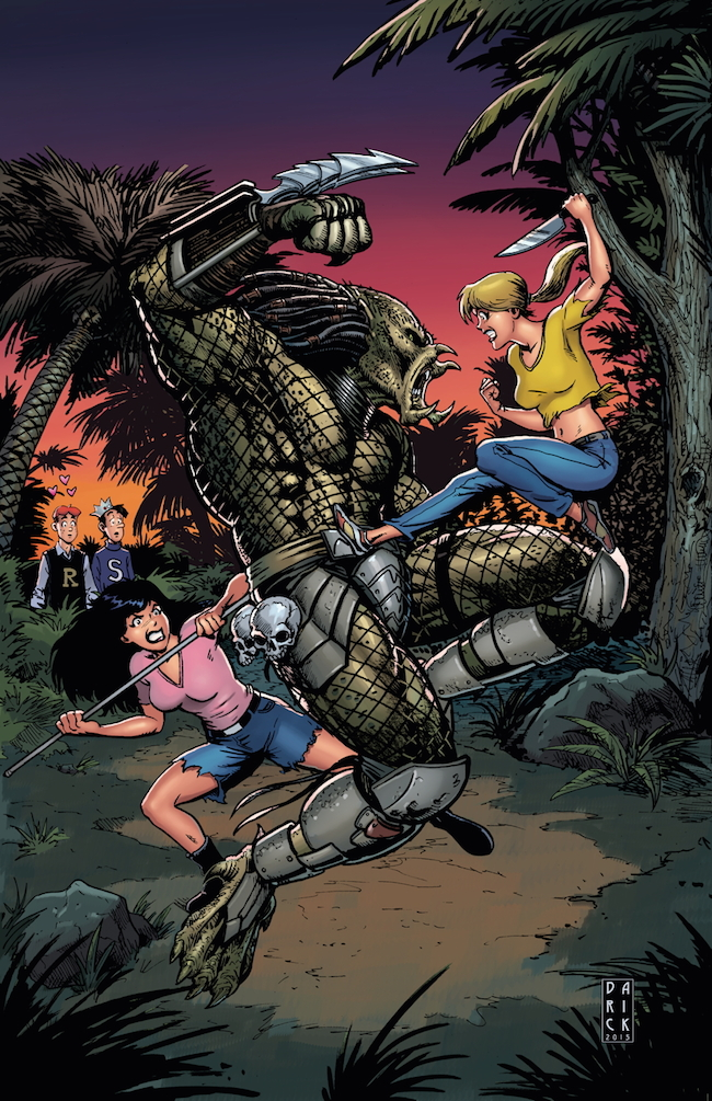 dark horse comics, archie versus predator, betty and veronica, cover variant, phoenix comic con