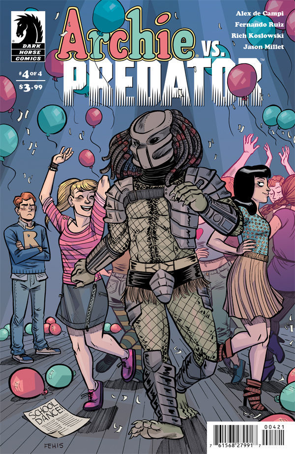 archie versus predator, riverdale, dark horse comics, betty and veronica, archie andrews