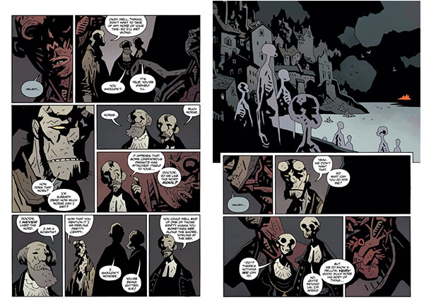hellboy, mike mignola, dave stewart, dark horse comics, bellboy in hell