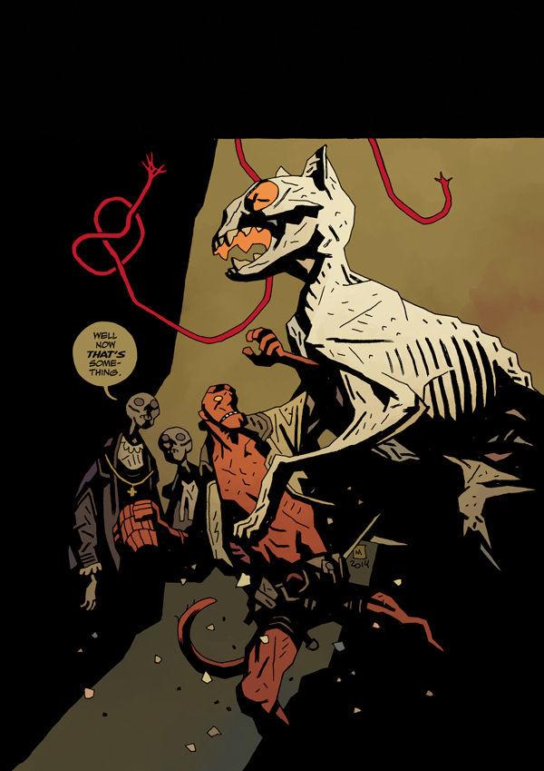 hellboy, mike mignola, dave stewart, dark horse comics, bellboy in hell