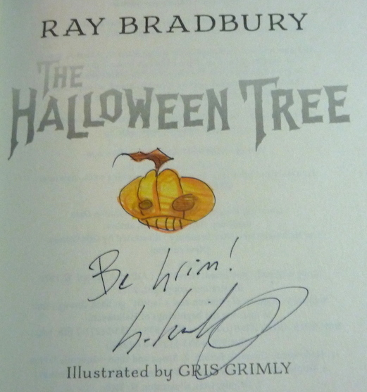 bradbury, gris grimly, knopf publishing, the halloween tree