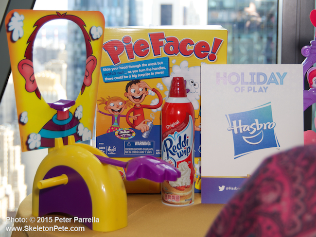 hasbro, pie face, holiday of play, toy insider magazine, woman's day magazine