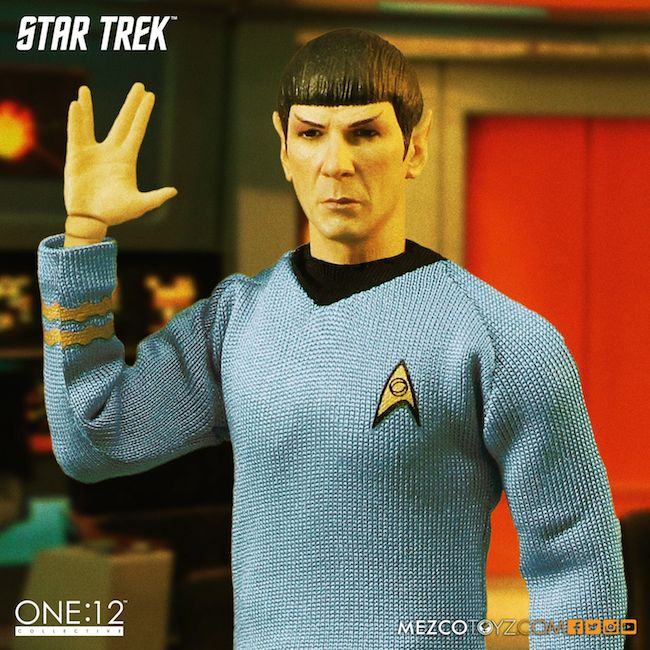 star trek, mezzo toyz, one:12 collective, mr. spock leonard nimoy