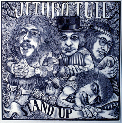 james grashow, jethro tull, stand up, woodcut