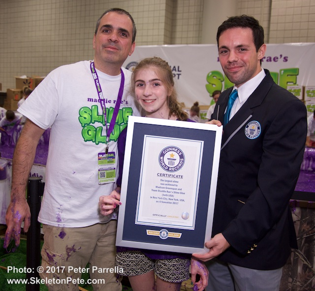 slime glue, maddie rae, play fair, toy association, guinness world records