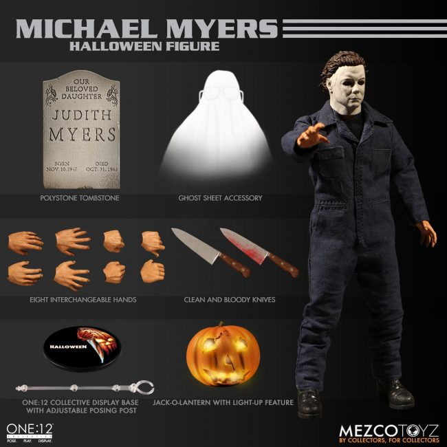 halloween, michael myers, mezco toyz, one:12 collective