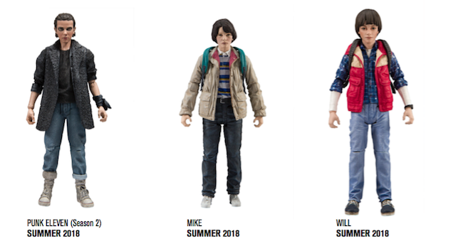 mcfarlane toys, stranger things, netflix, mike, punk eleven, will