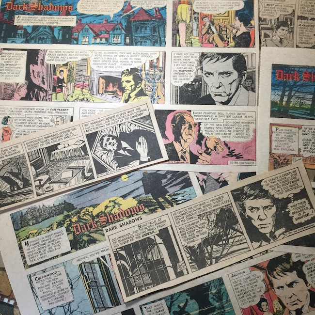 dark shadows, newspaper strips, Barnabas collins