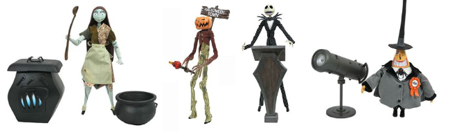 diamond select toys a nightmare before Christmas, Disney, Tim Burton