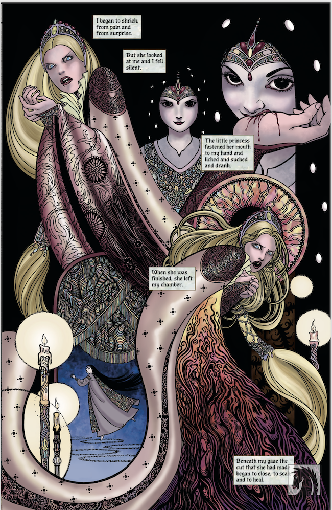dark horse comics, Neil Gaiman, colleen doran, snow glass apples